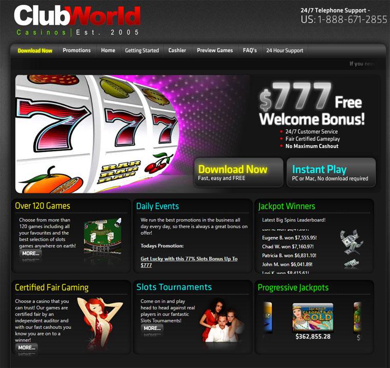 Club World Casino Twitter
