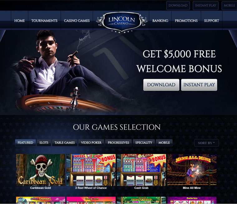 Lincoln Casino Instant Play